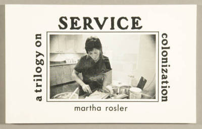 """A reprint of the 70s classic. """"A Budding Gourmet"""", """"McTowers Maid,"""" and """"Tijuana Maid"""": three short novels address the social uses of food (the third told in both Spanish and English). Originally a mail art project, the stories were serialized and sent to potential readers on postcards. References: Johanna Drucker, The century of artists' books, 1995. Anne Moeglin-Delcroix, Esthétique du livre d'artiste, 1960-1980. Robert C. Morgan, """"Systemic books by artists,"""" Artists' books: a critical anthology and sourcebook."""